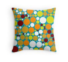 Retro Polka Dot Pattern #6 Throw Pillow
