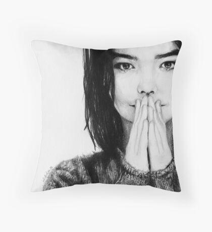 Björk Throw Pillow