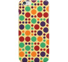 Retro Polka Dot Pattern #7 iPhone Case/Skin