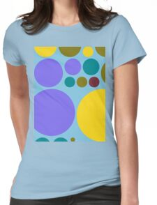 Retro Polka Dot Pattern #9 Womens Fitted T-Shirt
