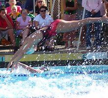 Swim relay action - La Habra, CA  by leih2008