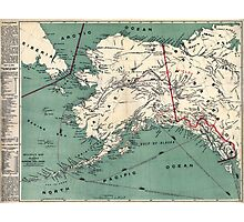 ALASKA GOLD RUSH SURVIVAL MAP/GUIDE  1897 Photographic Print