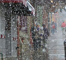 Main Street Snowfall by Marc McDonald