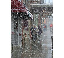 Main Street Snowfall Photographic Print