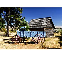 """Blue Wagon"" Photographic Print"