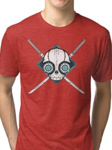 Cyborg Skull Tri-blend T-Shirt
