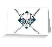 Cyborg Skull Greeting Card