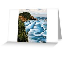 Waves And Mountains Greeting Card