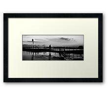 Shadows of Morn - Mona Vale Beach, Sydney Australia Framed Print