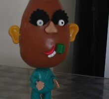 old school potato head in color by Michelle Whelan
