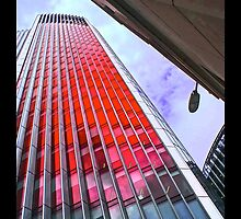 City of London in the red by Tim Constable by Tim Constable