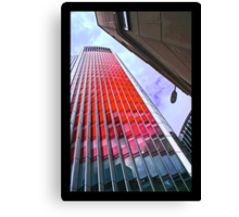 City of London in the red by Tim Constable Canvas Print