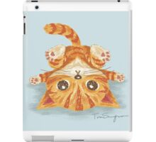 Tabby upside-down iPad Case/Skin