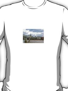 View of St Paul's Cathedral over Millennium Bridge by Tim Constable T-Shirt