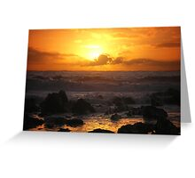 Saturated Sunset  Greeting Card