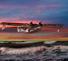 Catalina Flying Boat at Sunset (RAF Version) by © Steve H Clark