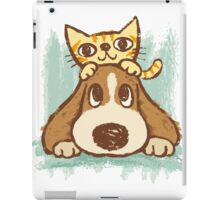 Sketch of kitten and dog iPad Case/Skin