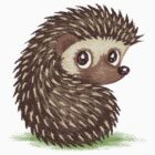 Hedgehog which looks at back by Toru Sanogawa