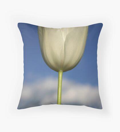 Monet White Throw Pillow