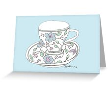 cup of tea (just drunk) Greeting Card