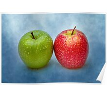 Green And Red Apples Poster