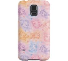 Chalk drawing of cats pattern Samsung Galaxy Case/Skin