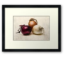 Three Onions Framed Print