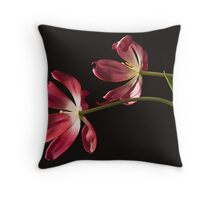 Two Open Tulips Throw Pillow