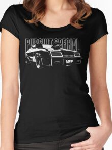 Mad Max Inspired Pursuit Special | White Women's Fitted Scoop T-Shirt