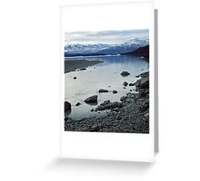 Glacial morraine, Argentina Greeting Card