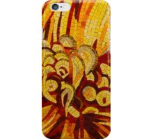 Sparkling, Intricate Golds and Yellows - a Floral Ceramic Tile Mosaic iPhone Case/Skin
