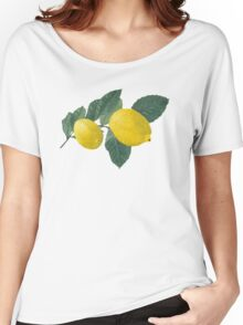 Two lemons on a branch with leaves. Women's Relaxed Fit T-Shirt