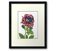 .♥➷♥•* Stars & Stripes Rose For 9-11 In Rememberance.♥➷♥•*¨ Framed Print