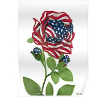 .♥➷♥•* Stars & Stripes Rose For 9-11 In Rememberance.♥➷♥•*¨ Poster