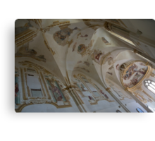 Ravages of Time - the Faded Beauty of an Elegant Church on Capri Island  Canvas Print