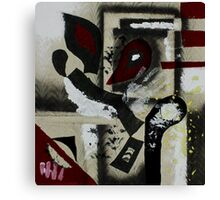 Blood and Bone #1 (Mixed Material Assemblage)- Canvas Print