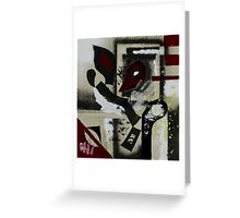 Blood and Bone #1 (Mixed Material Assemblage)- Greeting Card