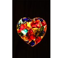 Stained Glass Heart Photographic Print