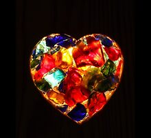 Stained Glass Heart by KerstinB