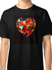 Stained Glass Heart Classic T-Shirt
