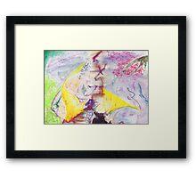 Mixed Media Abstract  Framed Print