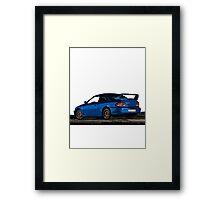22B Sti WRX Impreza Subaru Framed Print