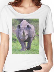 Black Rhino Bull - Powerful Me Women's Relaxed Fit T-Shirt