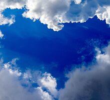 Blue Heart in Heaven by KerstinB