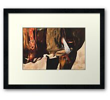 These Boots were made for Workin' Framed Print