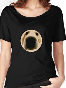 GOLDEN RETRIEVER  PUPPY PAINT PORTRAIT Women's Relaxed Fit T-Shirt