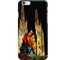Mother Mary with baby Jesus watches the moon - St Mary's iPhone Case/Skin