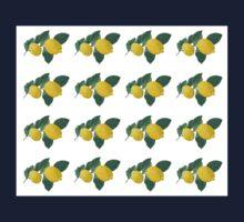 Oil painted lemons in rows One Piece - Long Sleeve