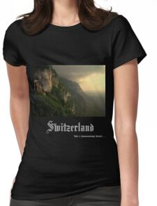 Switzerland Womens Fitted T-Shirt