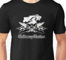 Chef Skull 12: Culinary Genius 3 white flames Unisex T-Shirt
